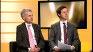 Michael Gove comments on unions ENGLAND London INT Glen Goodman and Tony Travers LIVE