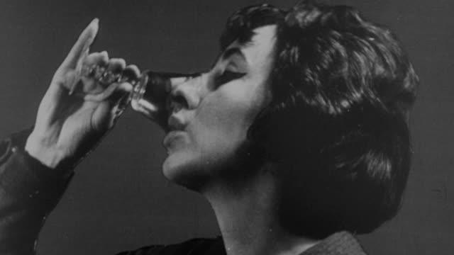 1964 MONTAGE Public service announcement against drunk driving / United Kingdom