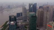 Pudong, Huangpu River, Hongkou, high-rise buildings, View from Oriental Pearl Tower, Shanghai, China
