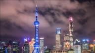 T/L ZO Pudong skyline at night, Shanghai, China