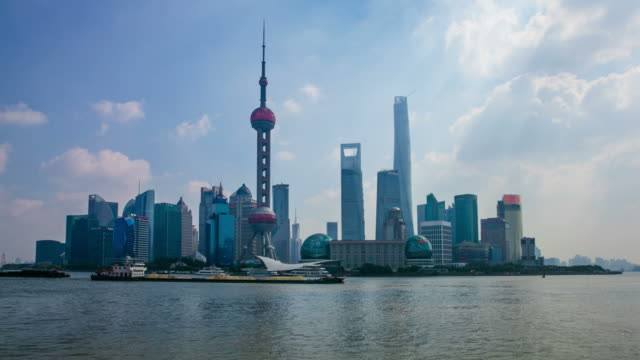 Pudong timelapse with Shanghai tower