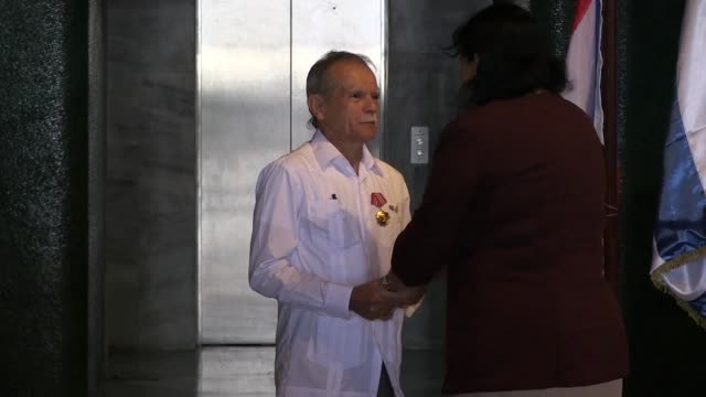 Puerto Rican independence fighter and ex prisoner Oscar Lopez Rivera receives the Order of Solidarity in the Cuban capital an honour he attributes to...