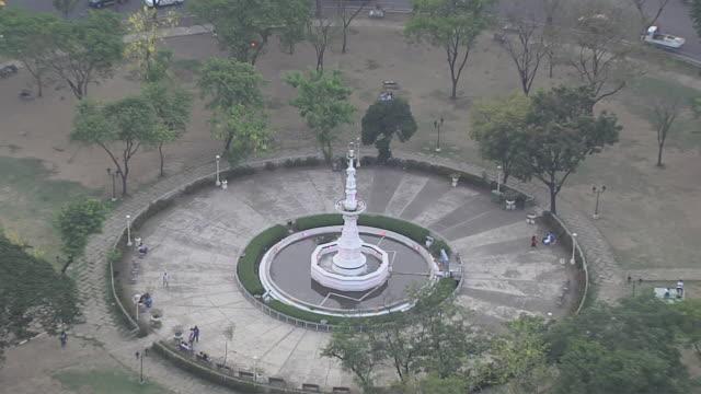 Pull back Aerial Shot City Cebu Bohol Philippines