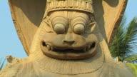 Pull back narasimha statue hampi hospet karnataka