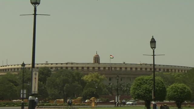 Pull back parliament house new delhi india