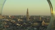 Pull Back Shot Antwerp City Belgium