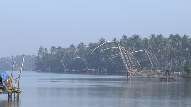 Pull Back Shot Chinese Net Back Waters Cochin Kerala India