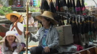 Pull Back Shot Floating Market Bangkok Thailand