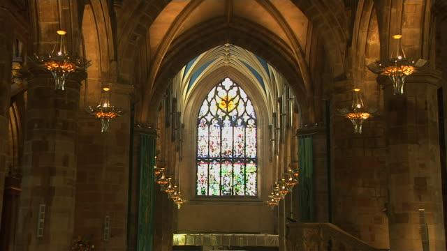 Pull Back Shot Interior Giles Cathedral Edinburgh United Kingdom