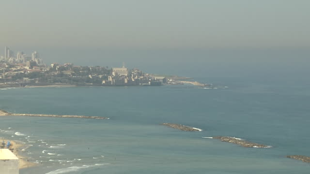 Pull Back Shot Tel Aviv Aerial Shot Tel Aviv Israel
