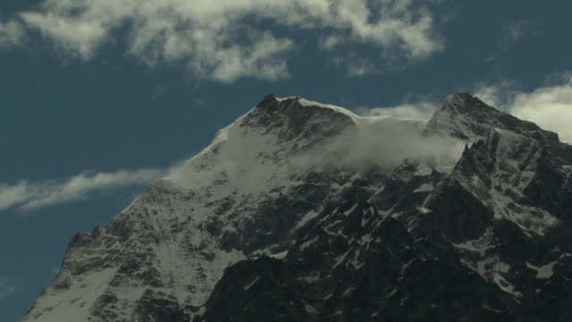 Pull back snow capped mountains uttarakhand