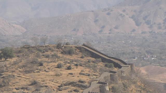 Pull back valley view from kumbhalgarh fort rajsamand rajasthan