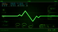 EKG Pulse Waveform screen HUD