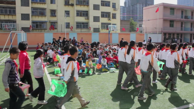 WS Pupils  on playground of school/xian,shaanxi,China