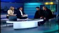 'Puritan' ENGLAND London GIR INT David Soul and Nick Moran LIVE STUDIO interview SOT On their roles in the film Puritan a supernatural thriller /...