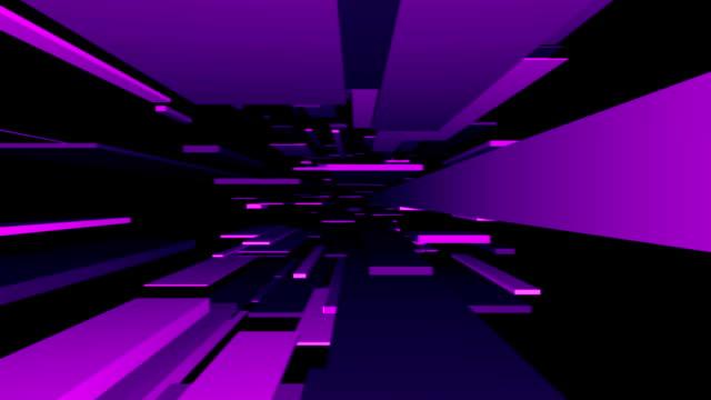Purple Blocks Tunnel Loop | Abstract Futuristic Animation