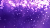 4K Purple Glitter Falling Background Loopable