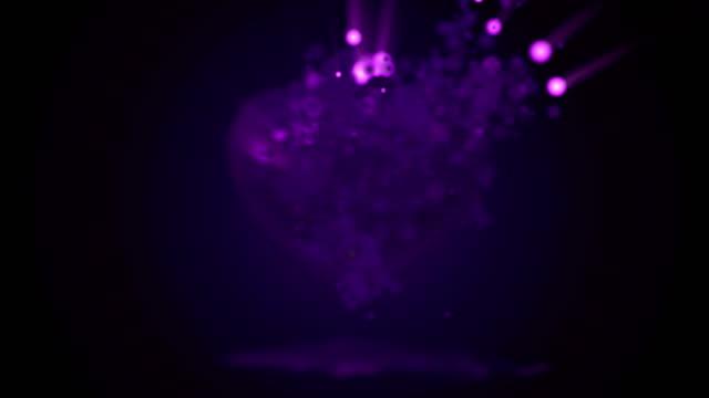 Purple heart deeltje animatie