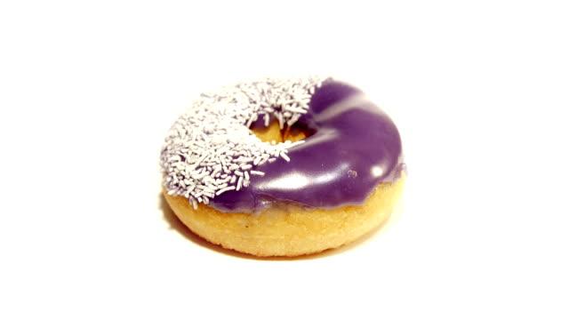 Purple Iced Donut