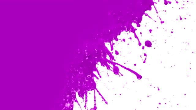 Vernice viola splattering. transizione.