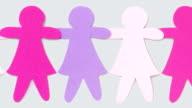 Purple paper girls chains