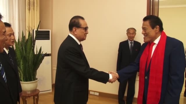 Japanese wrestlerturnedlawmaker Antonio Inoki on Friday held talks with North Korea's top official in charge of foreign affairs Inoki who arrived in...