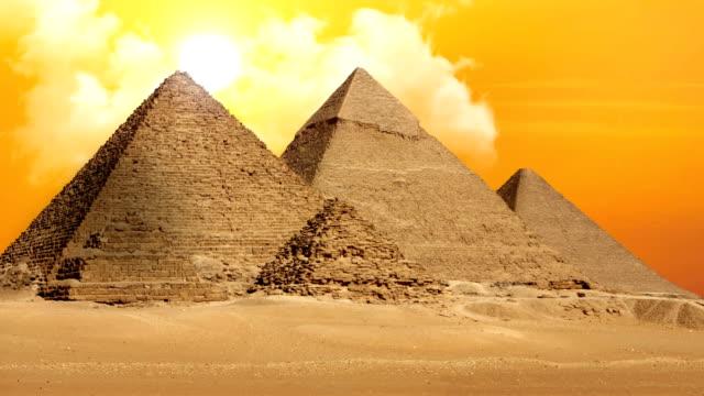 Pyramiden von Gizeh Valley Necropolis-Zeitraffer