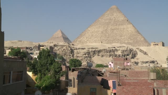 Pyramids viewed near neighborhood in Egypt