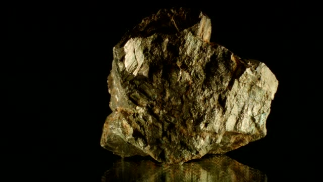 Pyrite on black