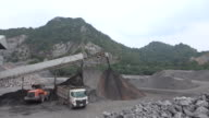 Quarry mine industry rock extraction heavy machinery equipment