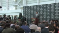 NFL quarterback Tim Tebow talks to the press for the first time as a New York Jet after leaving the Denver Broncos Tim Tebow gives first Jets press...