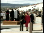 Queen and Duke of Edinburgh Bicentennial Tour of Australia Day 17 Also available As NAO/NAT AUSTRALIA Canberra EXT GV New parliament building as lake...
