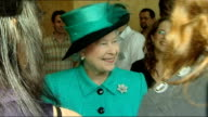 Queen and Duke of Edinburgh visit Google HQ in London Unidentifed woman from the Human Resources department telling the Queen what she does in her...