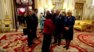 Queen and Prince Charles host Commonwealth reception ****SOME London Buckingham Palace INT Queen Elizabeth II and Prince Philip the Duke of Edinburgh...