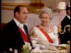 Queen and Prince Philip Collection 1 T14059602/a Jaques Chirac state visit banquet