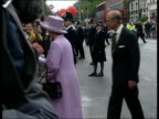 Queen and Prince Philip Collection 4 T06060204 Jubilee tour North London arrival at Hindu Temple watches dancers inside bus depot visit with...