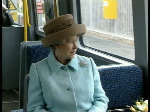 Queen and Prince Philip Collection 4 T07050218 Jubilee tour Gatheshead Queen off train Queen on Metro train Queen working at desk on Royal Train...