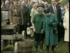 Queen and Prince Philip Collection 4 T12060221 Queen watching cider press intvw cider maker Mary Owen Queen with former Royal nanny Tiggy Legge...