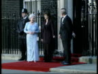 Queen and Prince Philip Collection 4 T29040217 Downing Street Jubilee Dinner Queen arrival and greetd by Blair Lady Thatcher John Major arrivals