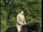Queen and Prince Philip Collection 6 115683 Queen riding with US President Reagan Prince Philip driving carriage with Nancy Reagan