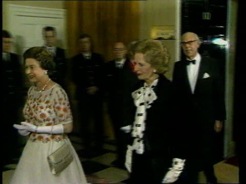 Queen and Prince Philip Collection 6 133768 The Queen and Prince Philip arrive at No 10 Downing Street greeted by Margaret Thatcher photocall with...