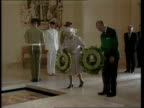 Queen and Prince Philip Collection 7 27300 Australia tour continues Canberra Queen Elizabeth II and Prince Philip lay wreaths at World War 2 Hall of...
