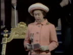 Queen and Prince Philip Collection 7 T04057701 London Westminster Hall Queen Elizabeth II making speech
