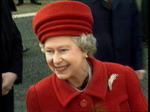 Queen and Prince Philip Collection 7 T09039501 Belfast Close shot of Queen Elizabeth II on walkabout chatting Queen during walkabout Queen looking...
