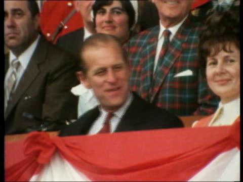 Queen and Prince Philip Collection 7 T13077002 Swan River Philip watching Queen Elizabeth II watching smiling