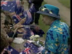 Queen and Prince Philip Collection 7 T22030019 22300 Australia tour continues Bourke Queen Elizabeth II talking to crowds many waving Australian...