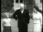Queen and Prince Philip Collection 7 T29085902 29859 President Dwight D Eisenhower of the USA meets Royal family SCOTLAND Balmoral Eisenhower posing...