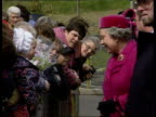 Queen and Prince Philip Collection 7 T9059712 9597 Queen visits Aberfan the Welsh village hit by a mudslide in 1966 Aberfan Queen Elizabeth II in...