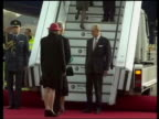 Queen and Prince Philip Collection 8 15746/04 Queen Elizabeth on state visit to Germany Berlin Plane arrival Queen greeted by gun salute arrival at...