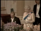 Queen and Prince Philip Collection 8 9364/03 Russian President Putin continues his State Visit by attending Royal Banquet London Buckingham Palace...
